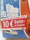 10 € eCoupon DB Deutsche Bahn IC/ICE Sofort Versand!