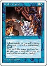 HURKYL'S RECALL Fourth Edition MTG Blue Instant RARE