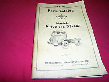 I-H International Harvester Truck D-400 DS-400 Owner Parts Catalog Manual 1941