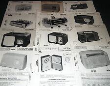 Lot 12 Radio Service Photofact: PACKARD-BELL, HARMAN-KARDON PILOT TOSHIBA RCA...