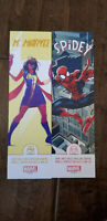 2019 SDCC COMIC CON EXCLUSIVE MS. MARVEL SPIDER-MAN SPIDEY BOOKMARK PROMO CARD