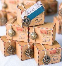 100 scatoline porta confetti bomboniera MATRIMONIO viaggio bussola mondo scatole