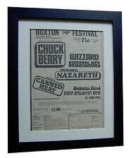 BUXTON POP ROCK FESTIVAL+POSTER+AD+RARE ORIGINAL 1973+FRAMED+EXPRESS GLOBAL SHIP