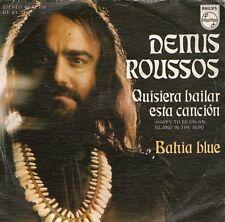 SINGLE 1976 DEMIS ROUSSOS - QUISIERA BAILAR ESTA CANION ,7inch