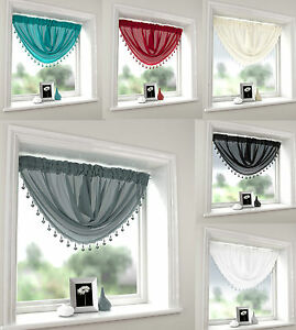 Macrame Beaded Voile Swags Free p&p