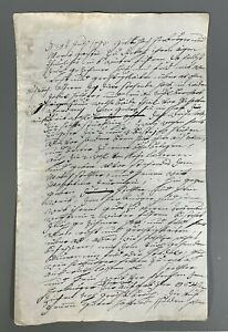 Very Fine RARE European German ? manuscript Contract ?on paper dated July 1793