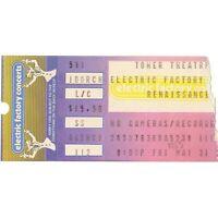 RENAISSANCE FAIRPORT CONVENTION STEELEYE SPAN Concert Ticket Stub 1985 PHILLY PA