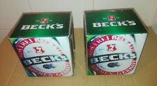 N2 Porta Tovaglioli da Bar in Metallo Pubblicitari Birra Beck's come da Foto Vai
