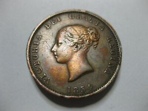 1854    New  Brunswick Half Penny coin.