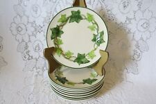 8 Franciscan Green Ivy Leaf Bread Plate (s)