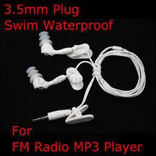 3.5mm Plug waterproof Earphone/headphone for Swimming MP3/FM Radio Speedo Player