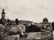 1925 Vintage JERUSALEM Castle ISRAEL Palestine Temple Place Religious Landscape