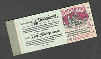 Disneyland Vintage Courtesy Guest Ticket Book 1980 with all 10 Tickets