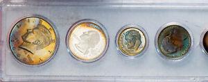 2000-S U.S SPECIAL MINT 5 COIN PROOF SET UNC BU TONED COLORING GEM SUPERB (MR)