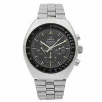 Omega Speedmaster Mark II Steel Black Dial Hand Wind Mens Vintage Watch 145.014