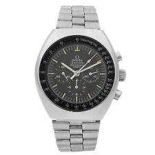Omega Speedmaster Mark II сталь черный циферблат ручной ветер мужские Винтажные часы 145.014