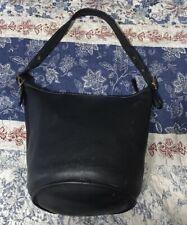 COACH Legacy Vintage Duffle Feed Sac XL Soft BLACK Leather Shoulder Bucket Bag