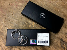 Mercedes-Benz Black Stainless Las Vegas Glow in Dark Keyring - Genuine (BNIB)