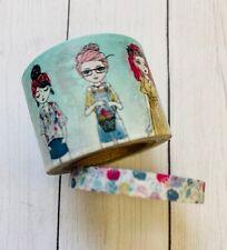 2 Rolls Spring Trendy Girl Easter Washi Tape Papercraft Scrapbook Planner Supply