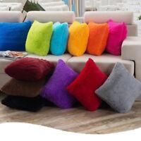 Fashion Soft Plush Square Throw Pillow Cases Home Decor Sofa Waist Cushion Cover