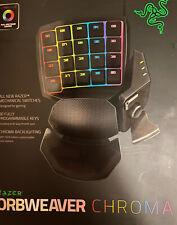 Razer Orbweaver Chroma RGB  Mechanical Progammable Keys Flight Race Sim RPG