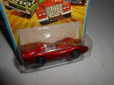1975 Matchbox LESNEY Rolamatics Super Fast No. 69 TURBO FURY RED CAR ON CARD