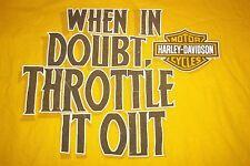 Harley Davidson La Crosse Area Onalaska WI When in Doubt Throttle It Out T-Shirt