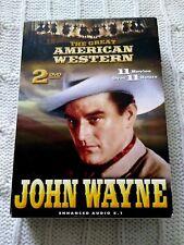 THE GREAT AMERICAN WESTERN JOHN WAYNE – DVD, 2-DISC BOX SET, R-4, LIKE NEW