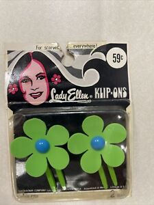 Vintage Hair Clip! Klip-Ons! (Pack Of 2!) Unique old hard to find retro items!