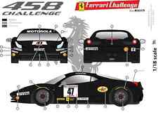 [FFSMC Productions]Decals 1/18 Ferrari F-458 Challenge Darren Crystal n°47 2011