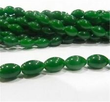 NEW charming 8x12mm Emerald Rice Gemstone Loose Bead 15""