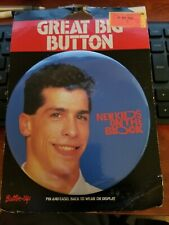 "1990 New Kids On The Block  6"" Button Up Pin Photo Badge Vintage Nkotb"
