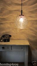 Doria Glas Kugel Chrom Pendel Lampe Hänge Leuchte Vintage 60er 70er Jahre Retro