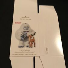***BOX ONLY***. 2010 A STAR IS BORN Rudolph Hallmark Ornament ***Replacement BOX