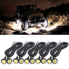 10x LED Rock White Round Button Lights Truck Eagle Eye Side Marker Lights Lamp