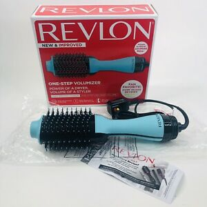 Revlon Salon One Step Hair Dryer Volumizer Mint Hot Air Brush 3 Settings