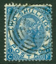 SG 119 2/- deep blue. Very fine used with a concentric rings cancel