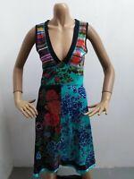 Vestitino DESIGUAL Donna taglia M vestito dress woman maglia lunga cotone 5458