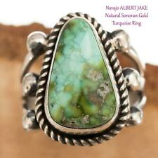 TURQUOISE RING  Spiderwebbed Sterling Silver ALBERT JAKE 7 Native American