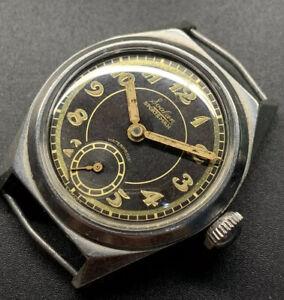 1940s Svalan Sportsman Breguet Gilt Radium Dial Waterproof Case