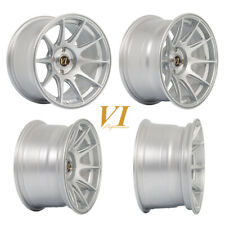 "4 x ViP BDR CONCAVE Silver 15"" x 8.25"" 4x100 et0 alloys fit Mazda Mx5 Civic"