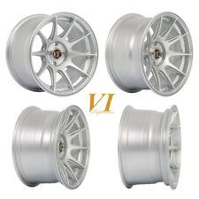 "4 x ViPerformance BDR Fl Silver 15"" x 8.25"" 4x100 et0 alloys fit Mazda Mx5 Civic"