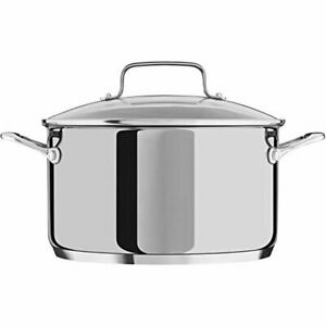 KitchenAid Stainless Steel 4 Qt Casserole Stockpot with Glass Lid NEW IN BOX