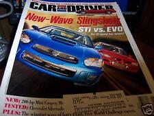 Car & Driver 6/2003 Subaru STi vs Mitsubishi EVO