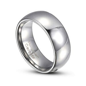 Gray Tungsten Carbide 2MM-8MM Comfort Fit Wedding Band Rings Size 3-14 HT1