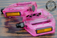 "Pink Iped Platform Bicycle Pedals 9/16""  BMX MTB FiXiE Track Road Bike Cruiser"