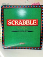 Scrabble Deluxe Board Game with Electronic Timer & Turntable Board Spears Games