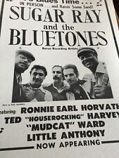 Original NOS blues vintage Ronnie Earl poster w/ Bluetones feat. Ted Harvey. Rar