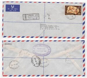 1970 NIGERIA Registered Air Mail Cover IDUMAGBO LAGOS to BERNE SWITZERLAND