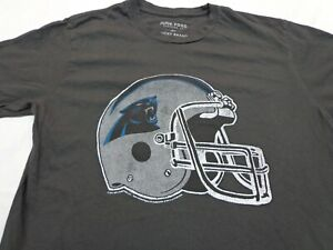 Carolina Panthers T-shirt Junk Food for Lucky Brand Dark Gray  Size Small